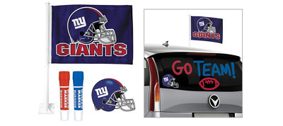 New York Giants Car Decorating Tailgate Kit
