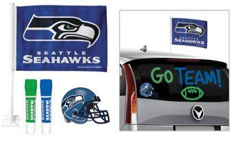 Seattle Seahawks Car Decorating Tailgate Kit