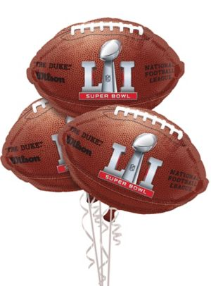 Super Bowl 51 Balloons 3ct - Football