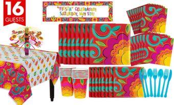 Caliente Fiesta Tableware Kit for 16 Guests