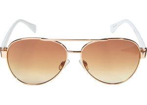Gold Hearts Aviator Sunglasses