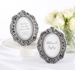 Silver Victorian Photo Frame Place Card Holder
