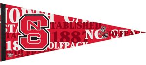 North Carolina State Wolfpack Pennant Flag