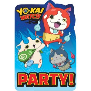 Yo-Kai Watch Invitations 8ct