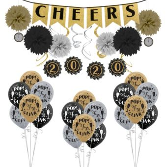 Black Gold Silver Decorations Kit
