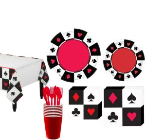 Place Your Bets Casino Tableware Kit for 16 Guests