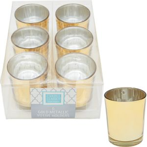 Gold Votive Candle Holders 6ct