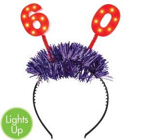 Light-Up 60th Birthday Head Bopper
