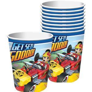 Mickey Mouse Roadster Cups 8ct