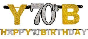 Prismatic 70th Birthday Banner - Sparkling Celebration