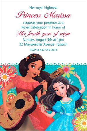 Custom Elena of Avalor Invitation