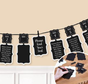 Chalkboard Seating Chart Garland