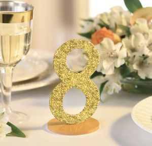 Glitter Gold Table Numbers 1-12