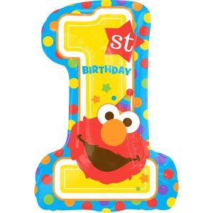 Giant 1st Birthday Elmo Balloon