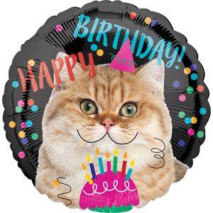 Cat Birthday Balloon