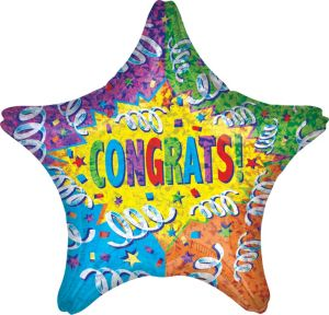 Giant Congrats Star Balloon