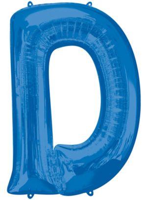 Giant Blue Letter D Balloon