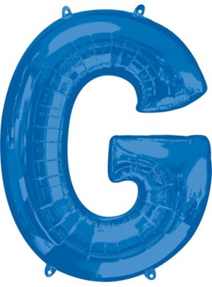 Giant Blue Letter G Balloon