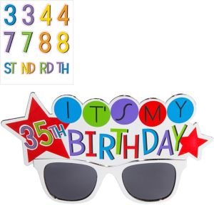 Rainbow Happy Birthday Sunglasses Kit