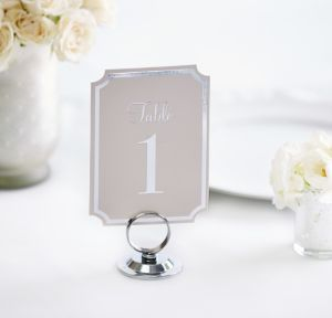 Silver Table Number Cards 1-20