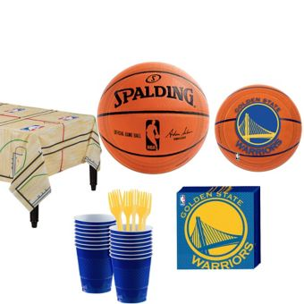 Golden State Warriors Basic Party Kit 16 Guests