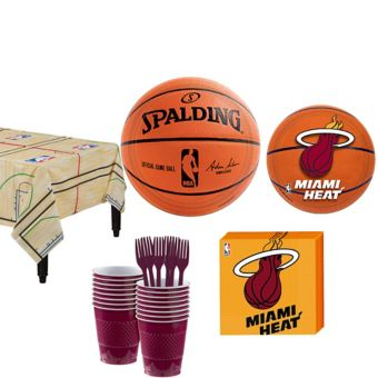 Miami Heat Basic Party Kit 16 Guests