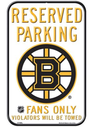 Reserved Parking Boston Bruins Sign