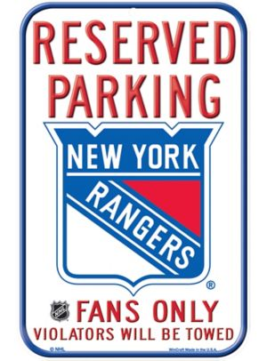 Reserved Parking New York Rangers Sign