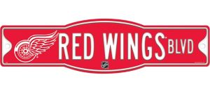 Detroit Red Wings Street Sign
