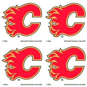 Calgary Flames Face Tattoos 4ct