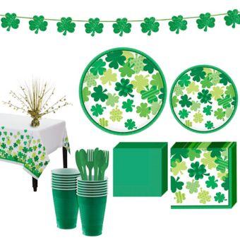 Blooming Shamrock Tableware Kit for 16 Guests