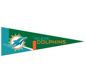 Small Miami Dolphins Pennant Flag