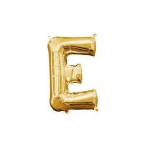 Air-Filled Gold Letter E Balloon