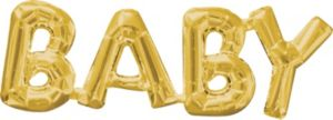 Air-Filled Gold Baby Letter Balloon Banner