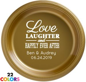 Personalized Wedding Plastic Dinner Plates