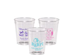 Personalized Baby Shower Hard Plastic Shot Glasses 2oz