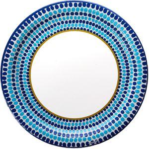 Indigo Dots Dinner Plates 18ct
