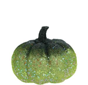 Glitter Green Pumpkin Decoration