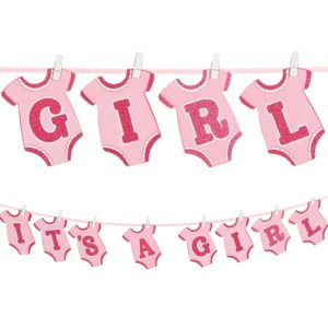 It's a Girl Onesie Baby Shower Banner