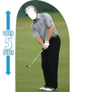 Golfer Life-Size Photo Cardboard Cutout