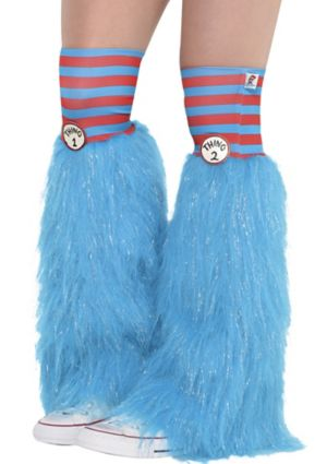 Adult Thing 1 & Thing 2 Leg Warmers - Dr. Seuss