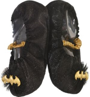 Child Glitter Batgirl Slipper Shoes - Batman