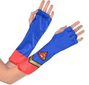 Adult Supergirl Gauntlets - Superman