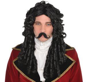 Adult Captain Hook Wig & Moustache
