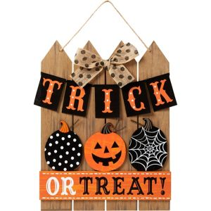 Picket Fence Trick-or-Treat Sign