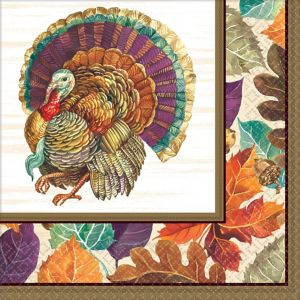 Traditional Thanksgiving Dinner Napkins 16ct