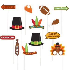 Thanksgiving Photo Booth Props 13ct