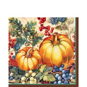 Warm Harvest Lunch Napkins 16ct