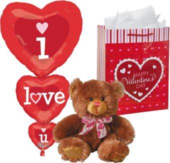 Brown Bear Plush Valentine's Day Gift Kit