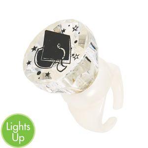 Light-Up Clear Graduation Cap Ring